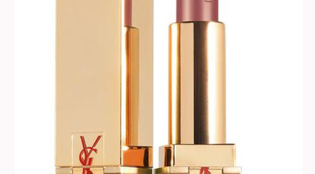 <b>1. Rouge pur couture in 'Golden lustre'</b><br/> Inspired by the opulent shades of haute-couture-dresses, Golden Lustre is a subtle pink with a high shine, thanks to a dash of glitter. Price: £22.50, YSL, Selfridges.com