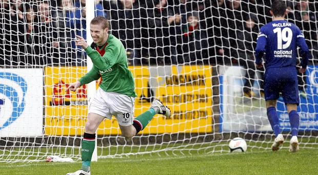 Glentoran's Darren Boyce has put the nightmare of missing in two penalty shoot-outs behind him