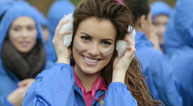 Miss Ireland Holly Carpenter takes part in the Miss World Highland Games at Crieff Hydro Hotel to mark the 60th birthday of Miss World. PRESS ASSOCIATION Photo. Photo date: Monday October 24, 2011. Photo credit should read David Cheskin/PA wire