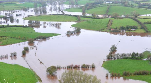 Many areas of Tyrone were under water on Tuesday morning as this picture, near Fintona, has captured.