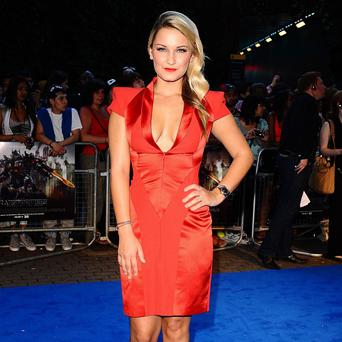 Sam Faiers arrives at the UK fan screening of Transformers: Dark Of The Moon at the Imax cinema in London.