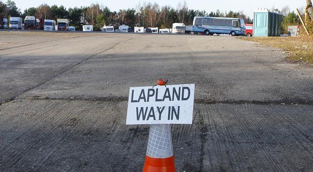 The entrance to Lapland New Forest, which opened in November 2008 at Matchams Leisure Park in Hampshire