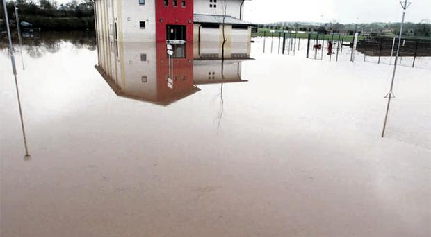 Flooding at Beragh Red Knights GAA Club in Tyrone