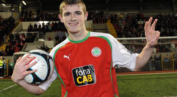 .Cliftonville's hat-trick hero Rory Donnelly