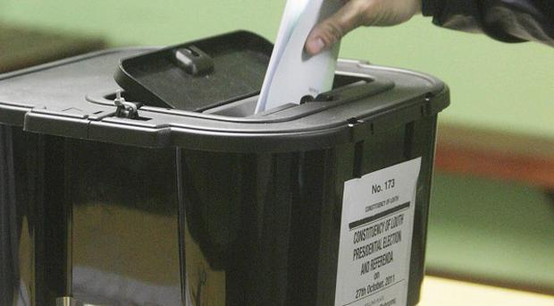 The number of people casting ballots appears to be down