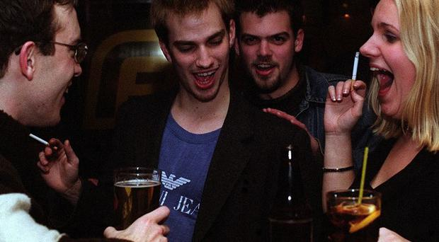 The majority of Britons feel most comfortable in bars, clubs and parties when they are in their mid-30s, a survey found