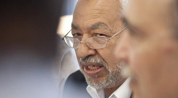 Tunisian leader and founder of the moderate islamist party Ennahda, Rached Ghannouchi (AP)
