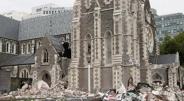 The earthquake-hit cathedral in central Christchurch will be deconsecrated and partially demolished (AP)