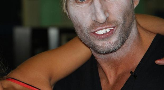 Robbie Savage is getting in touch with his scary side for Strictly