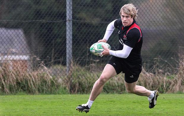 Andrew Trimble is back from the World Cup and right back into the action for Ulster in Wales