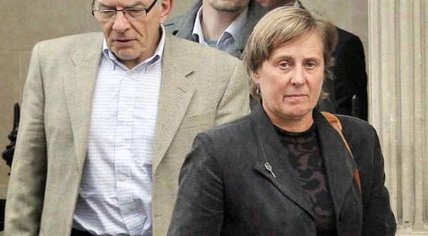 Joanna Yeates's parents David and Teresa leave Bristol Crown Court with their son Chris