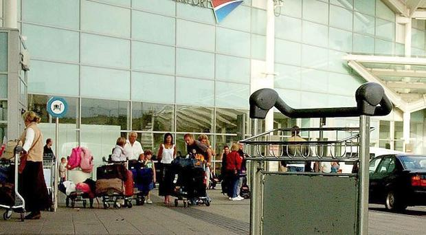 Passengers refused to get off a plane at Birmingham Airport, it was reported