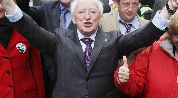 Michael D Higgins has been declared the ninth President