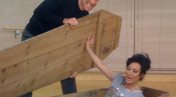 Nancy Dell'Olio will arise from a coffin on this week's show