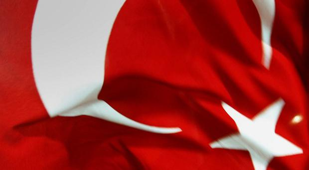 A suicide bomber has killed two and injured 12 in Turkey