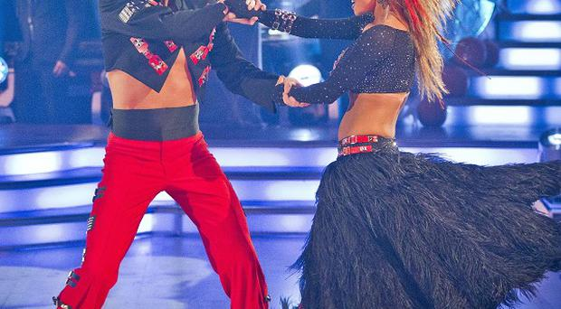 Robbie Savage and Ola Jordan dancing the Paso to Bad by Michael Jackson