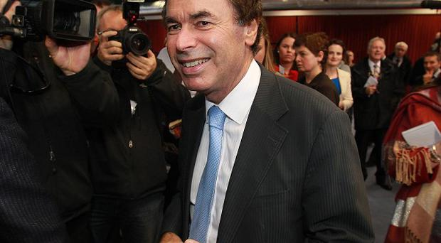 Minister for Justice Alan Shatter in the count centre at Dublin Castle