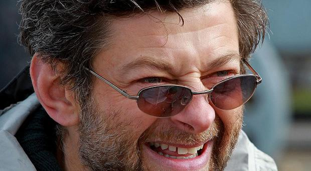 Andy Serkis on the set of new film Death of a Superhero