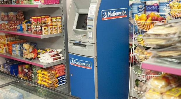 The Nationwide ATM that will be put into Dev's corner shop on Coronation Street