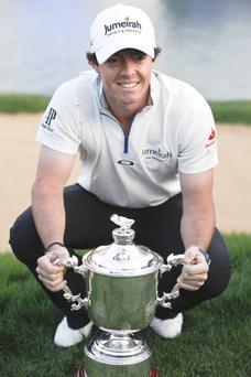 Lucrative swing: Rory McIlroy went for the big payout by securing the Shanghai Masters