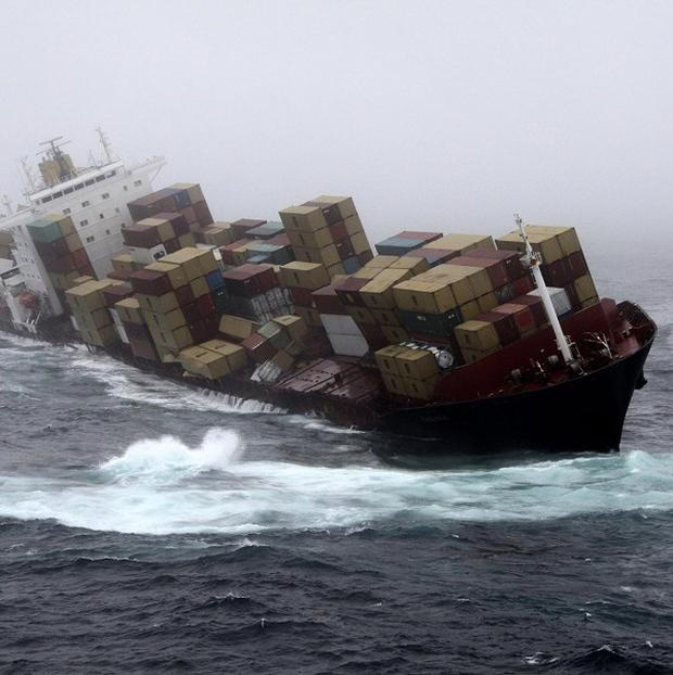 The cargo ship Rena has been stranded on a New Zealand reef for nearly a month
