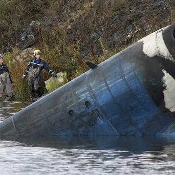 The crash site of the Russian Yak-42 jet near the city of Yaroslavl(AP)