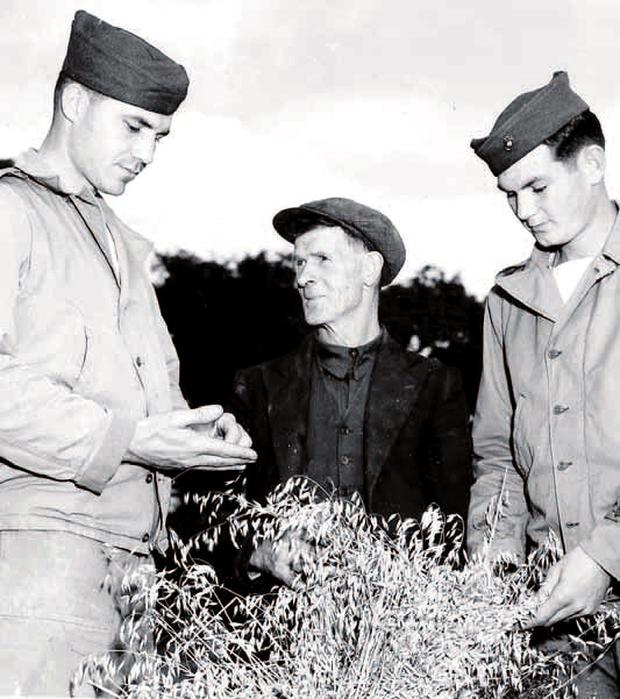 US Marines get involved in rural life in Derry during the Second World War