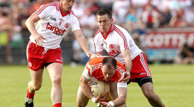Class acts: Brian McGuigan (left) and Philip Jordan have served Tyrone superbly well during a golden era for the county