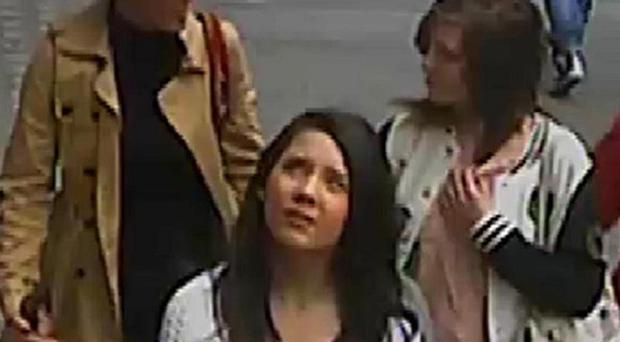 Three women seen on CCTV are believed to have been involved in a hoax that closed down Canterbury city centre