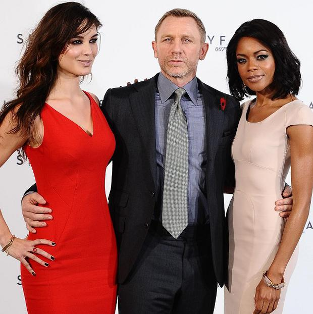 Berenice Marlohe, Daniel Craig and Naomie Harris will appear in the new James Bond film