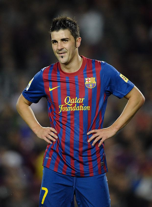 David Villa could play for Barca and Spain this week
