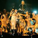 David Guetta performs with Jessie J during the 2011 MTV Europe Music Awards at the Odyssey Arena, Belfast.