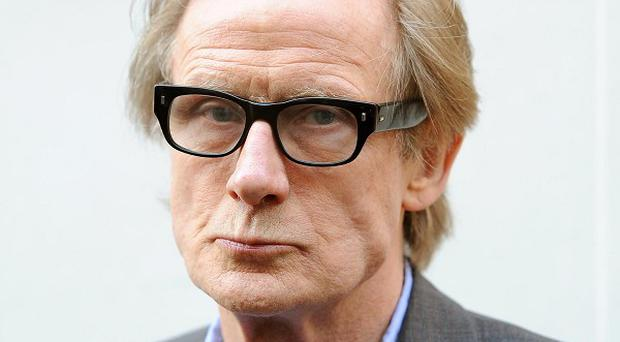 Bill Nighy was in Leicester Square for the premiere of his new film Arthur Christmas