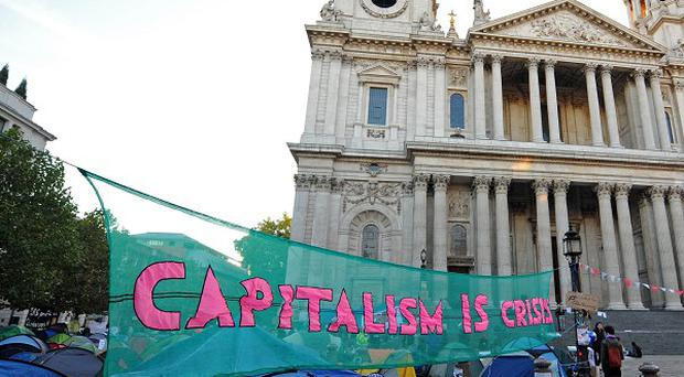 David Cameron said the camp erected outside St Paul's Cathedral was not a constructive way to protest
