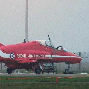 A Red Arrows pilot has been killed at RAF Scampton