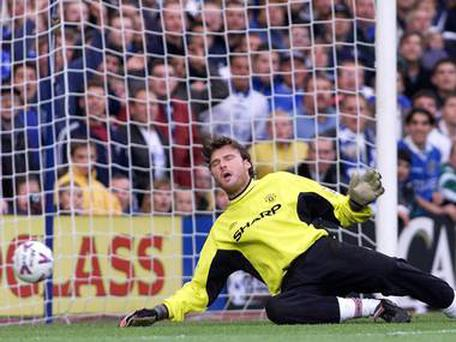 <b>Goalkeeper - Massimo Taibi</b><br /> It was always going to be hard following Peter Schmeichel however not quite as hard as Taibi made it look. United paid £4.4m for him in 1999 which in the end worked out at just over £1m per first team appearance. Taibi had a disastrous opening four games for the club, flapping at a free kick on debut and allowing Sami Hyypia to score as well as conceding five against Chelsea and committing one of the worst goalkeeping blunders of all time as he allowed a tame Matt Le Tissier shot to roll straight through his legs - something he blamed on his spikes. They were to be his only four games for the Red Devils.