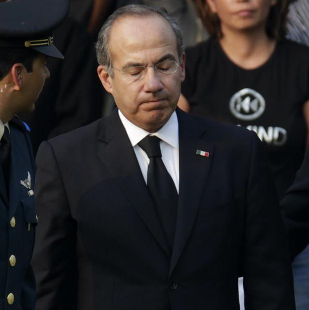 Mexico's president Felipe Calderon paid tribute to interior secretary Francisco Blake Mora who was killed in an air crash