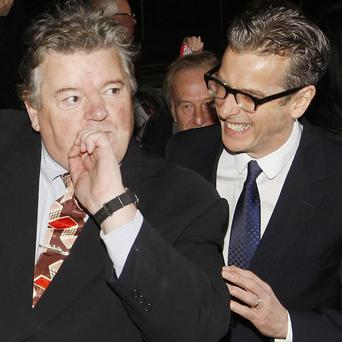 Robbie Coltrane and Peter Capaldi at the Scottish Baftas