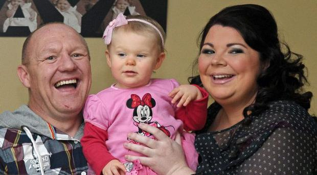 Little miracle: Sharon and Gary Seymour with baby daughter Aya Mary