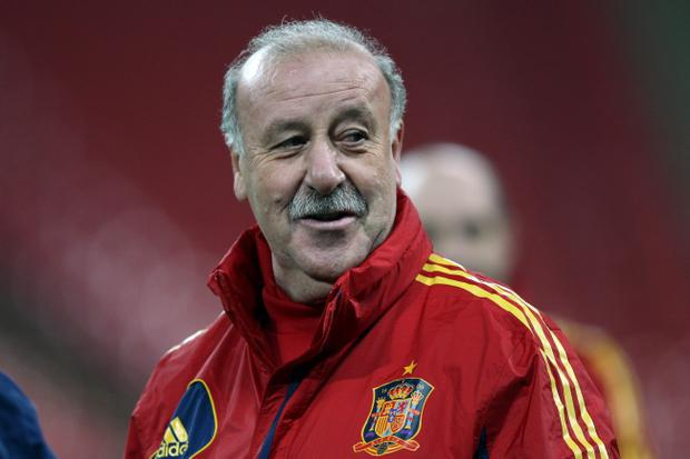 Never mind 'Movember', Spanish coach Vicente Del Bosque leaves them all in the shade