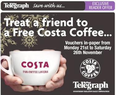 Share A Little Costa Love This Christmas Courtesy Of The