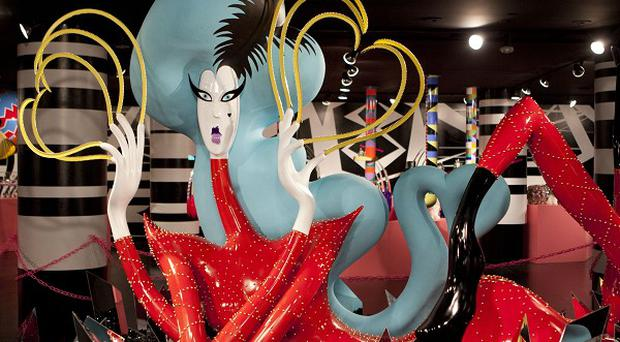 A sculpture on display at Lady Gaga's Workshop in New York