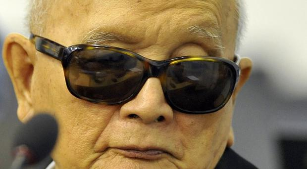 Nuon Chea, one of three former Khmer Rouge top leaders on trial in Cambodia for crimes against humanity (AP)