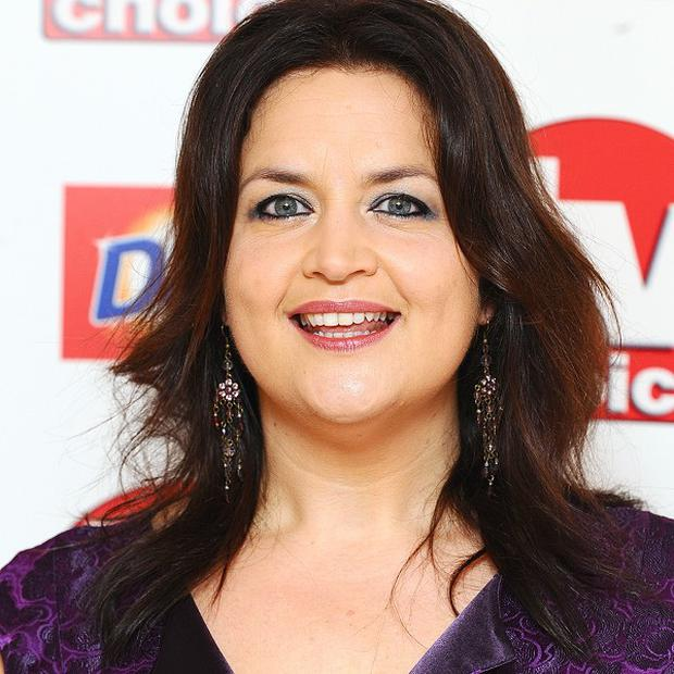 Ruth Jones has been showing off her new figure