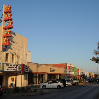The Texas Theatre in Dallas, where President John F Kennedy's assassin Lee Harvey Oswald was arrested (AP)