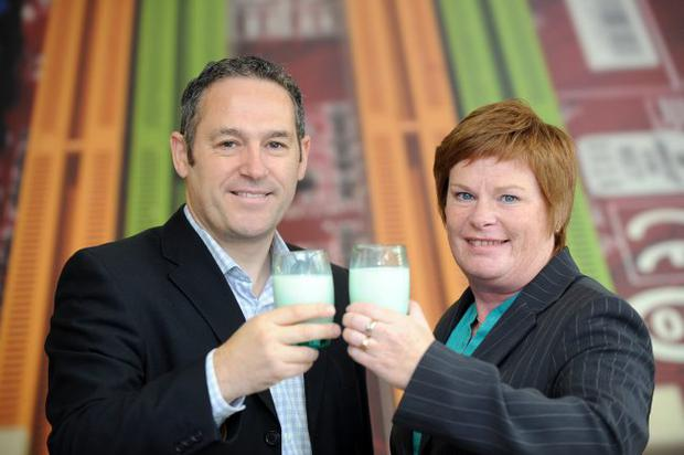John Hill, Bubble NI Ltd managing director, and Dr Vicky Kell, Invest NI trade director