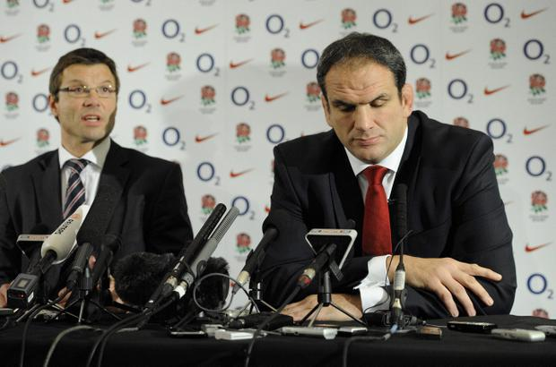 Martin Johnson (right) resigned from his post as England manager after a disastrous World Cup