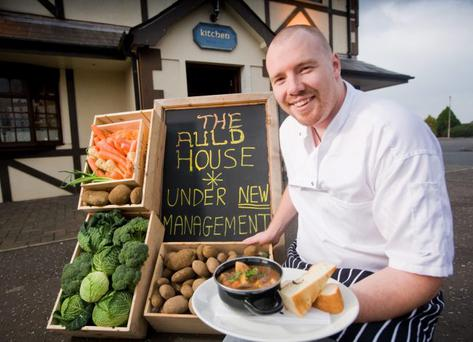 Plenty on his plate: Head chef Colin Dalley of the Auld House, which he says has been booming since it was taken over