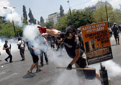 Be prepared: Greek anti-austerity protesters clash with police in Athens