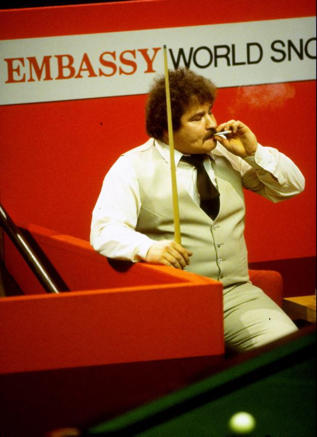 Big Bill Werbeniuk always had plenty of puff at the snooker table